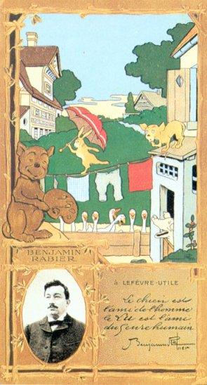 Carte postale publicitaire pour LU - vers 1905